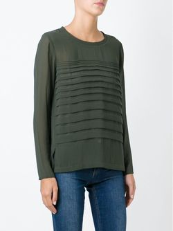 Плиссированная Блузка Sonia By Sonia Rykiel                                                                                                              зелёный цвет