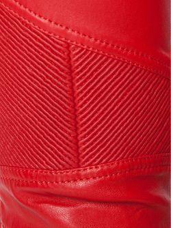 Байкерские Брюки Кроя Скинни Balmain                                                                                                              красный цвет