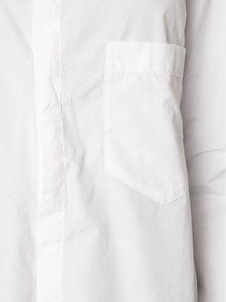 Рубашка С Неравномерным Подолом Yohji Yamamoto                                                                                                              белый цвет