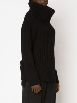 Свитер С Высоким Горлом Yohji Yamamoto                                                                                                              чёрный цвет