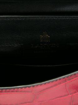 Сумка-Тоут С Эффектом Крокодиловой Кожи Lanvin                                                                                                              чёрный цвет