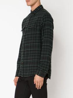 Рубашка В Клетку Big Twill ALEX MILL                                                                                                              черный цвет