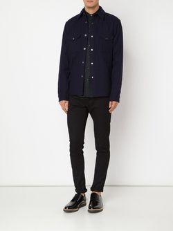 Quilted Shirt Jacket ALEX MILL                                                                                                              синий цвет