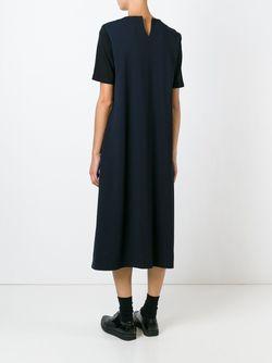 Свободное Платье С Короткими Рукавами Hache                                                                                                              синий цвет