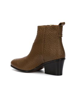 Block Heel Ankle Booties BUTTERO®                                                                                                              коричневый цвет