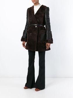 V-Neck Coat Chloe                                                                                                              коричневый цвет