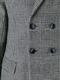 Двубортное Пальто В Клетку HARMONY PARIS                                                                                                              чёрный цвет