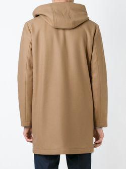 Однобортное Пальто С Капюшоном HARMONY PARIS                                                                                                              Nude & Neutrals цвет