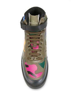 Camouflage Hi-Top Sneakers Valentino Garavani                                                                                                              зелёный цвет