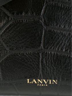 Сумка-Тоут С Эффектом Крокодиловой Кожи Lanvin                                                                                                              коричневый цвет
