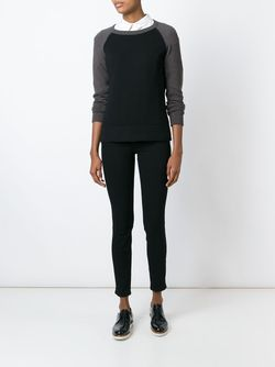 Contrasting Raglan Sleeves Sweater Eleventy                                                                                                              серый цвет