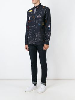 Рубашка С Принтом PS PAUL SMITH                                                                                                              синий цвет