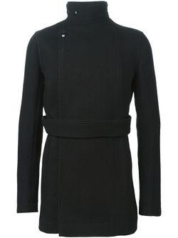 Пальто С Воротником-Воронкой Rick Owens                                                                                                              черный цвет