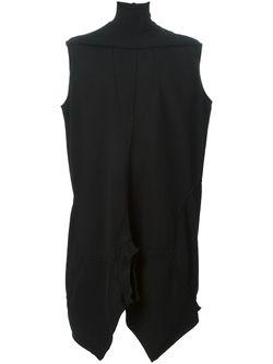 Асимметричная Туника С Воротником-Воронкой Rick Owens                                                                                                              чёрный цвет