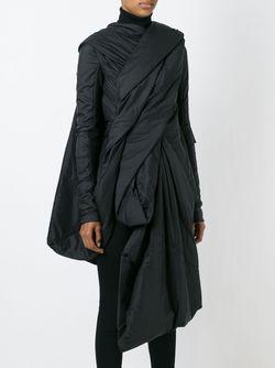 Драпированное Пальто Rick Owens                                                                                                              чёрный цвет