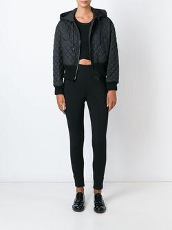 Стеганая Куртка С Капюшоном Burberry Brit                                                                                                              чёрный цвет