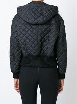 Стеганая Куртка С Капюшоном Burberry Brit                                                                                                              черный цвет