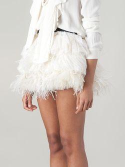 Ruffled Feather Short Skirt Faith Connexion                                                                                                              белый цвет
