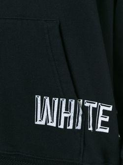 Толстовка С Полосатой Панелью Сзади OFF-WHITE                                                                                                              черный цвет