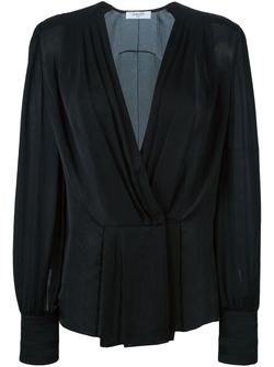 Sheer Pleated Blouse Givenchy                                                                                                              чёрный цвет