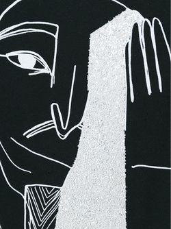 Толстовка С Принтом Египетский Иллюстраций Mcq Alexander Mcqueen                                                                                                              чёрный цвет