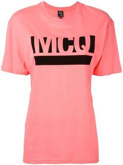 Футболка С Принтом-Логотипом С Подчеркиванием Mcq Alexander Mcqueen                                                                                                              розовый цвет