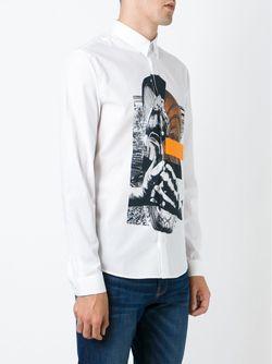Рубашка Со Смешанным Принтом Mcq Alexander Mcqueen                                                                                                              белый цвет