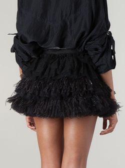 Ruffled Feather Short Skirt Faith Connexion                                                                                                              черный цвет