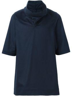 Funnel Neck Knit Top Rick Owens                                                                                                              синий цвет