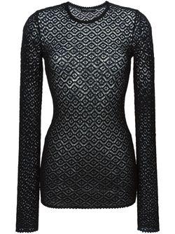 Вязаный Кружевной Свитер Dolce & Gabbana                                                                                                              черный цвет
