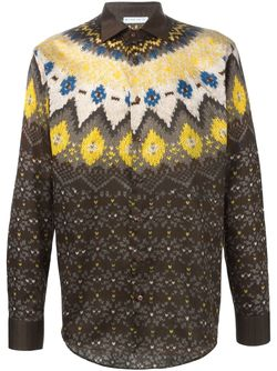 Fair Isle Print Shirt Etro                                                                                                              желтый цвет