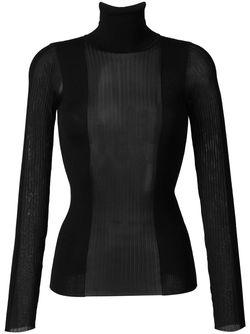 Вязаный Свитер С Прозрачной Вставкой Emilio Pucci                                                                                                              черный цвет