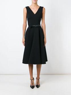 Раслкшенное Платье C V-Образным Вырезом Dolce & Gabbana                                                                                                              чёрный цвет