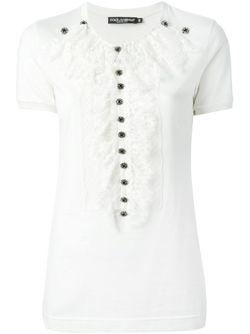 Lace Bib T-Shirt Dolce & Gabbana                                                                                                              белый цвет