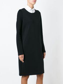 Longsleeved Shift Dress Jil Sander                                                                                                              черный цвет