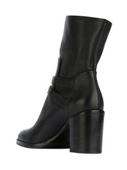 Chunky Heel Buckled Boots Paul Andrew                                                                                                              черный цвет