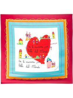 Childrens Drawing Print Scarf Dolce & Gabbana                                                                                                              многоцветный цвет