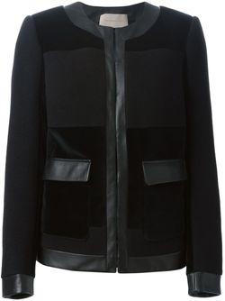 Куртка С Кожаной Окантовкой Christopher Kane                                                                                                              чёрный цвет