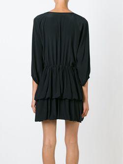 Расклешенное Платье Мини С Оборками L' Autre Chose                                                                                                              чёрный цвет
