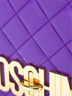 Стеганая Сумка Через Плечо С Логотипом Moschino                                                                                                              розовый цвет