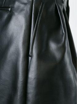 Широкие Шорты Из Искусственной Кожи COMME DES GARCONS HOMME PLUS                                                                                                              черный цвет