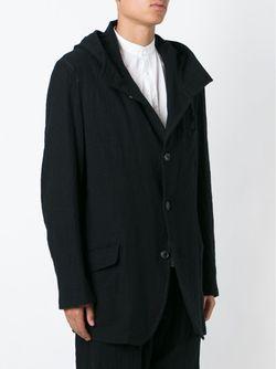 Куртка С Капюшоном Yohji Yamamoto                                                                                                              чёрный цвет