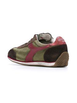 Кроссовки С Контрастными Панелями Diadora                                                                                                              зелёный цвет