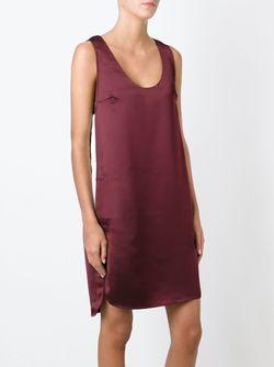 Contrast Side Stripe Tank Dress T By Alexander Wang                                                                                                              красный цвет