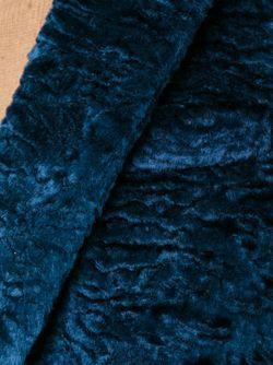 Каракулевое Пальто MSGM                                                                                                              синий цвет