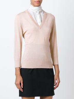 Свитер C V-Образным Вырезом Dolce & Gabbana                                                                                                              розовый цвет