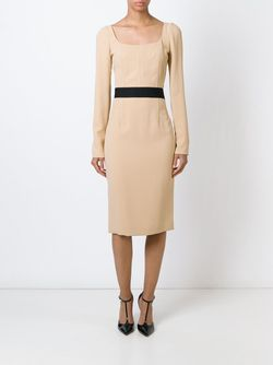 Square Neck Dress Dolce & Gabbana                                                                                                              Nude & Neutrals цвет
