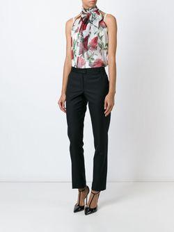 Полупрозрачная Блузка С Цветочным Принтом Dolce & Gabbana                                                                                                              белый цвет