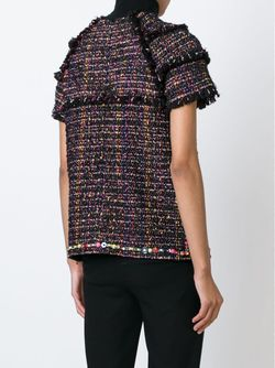 Shortsleeved Tweed Top MSGM                                                                                                              черный цвет