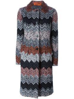 Zig Zag Knit Coat Missoni                                                                                                              чёрный цвет